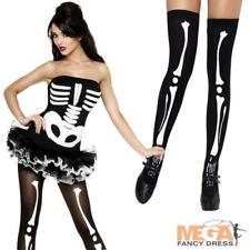 Sexy Skeleton Tutu Dress + Stockings Ladies Halloween Fancy Dress Costume Outfit