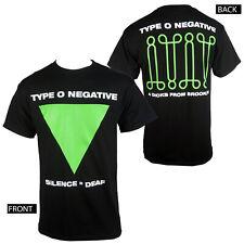 Authentic TYPE O NEGATIVE Silence Deaf Brooklyn Logo T-Shirt S M L XL NEW