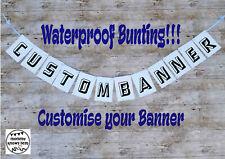 Waterproof bunting. Customised banner. Indoor or outdoor garland. Birthday Party