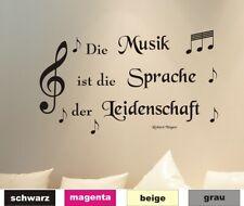 Wandtattoo Zitat Musik 01 Noten Sprüche Wandaufkleber Wandbild Sticker