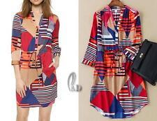 AU SELLER Women's BOHO Tunic Kaftan Long Top/Mini Dress/Beach Cover UP sw053