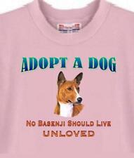 T Shirt Big Dog Adopt A Dog No Basenji Should Live Unloved 5 Colors # 88