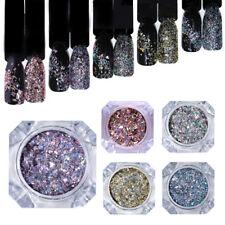 BORN PRETTY Holo Nail Flakes Sequins Holographic Glitter Powder Dust Paillette