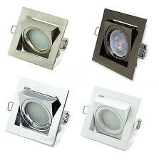 10 GU10 Square Tilt Directional Ceiling Spotlights Recessed Downlight Lights LED