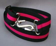 Adults Boys Mens Ladies kids Black Pink 24mm Elasticated Snake Belt l xl xxl
