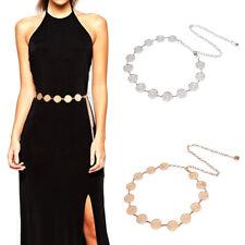 Fashion Metal Waist Chain Belt Gold Silver Buckle Body Chain Dress Belts lx