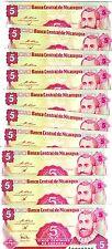 LOT, Nicaragua, 10 x 5 centavos, ND (1991), P-168, UNC