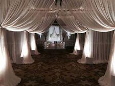 White Sheer Chiffon Voile Wedding Drape Draping backdrop panel  10' x 10'
