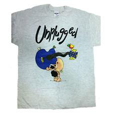 "T-shirt humorvolle PECORA NERA 100% baumwolle grau ""UNPLUGGED"""