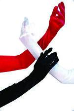 Sexy Dessous Satin Handschuhe weiss lang Wäschebeutel