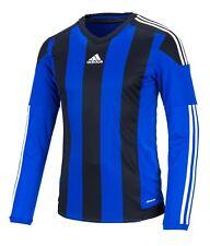 3e78c64ea Adidas Men Stripe 15 Climacool L S Shirts Blue Soccer Top Tee GYM Jersey  S17192