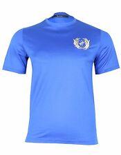 Billionaire Couture Men's Blue Cotton Crewneck T-Shirt, 44A (XXS) Free Shipping