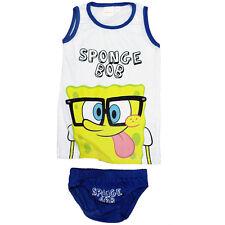 Unterwäsche 2tlg. Set Jungen Hemd Slip Garnitur SpongeBob Schwammkopf 98-128#164