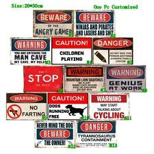 Warning No Farting Vintage Metal Tin Signs Retro Bar Plate Art Wall Decor Poster