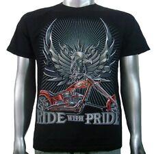 Tatuaje Eagle Hardtail Chopper American Motorcycle Biker Tee Para Hombre Camiseta M & L