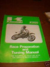 Kawasaki KX60 Race Prep Tuning Repair Manual Printed 86