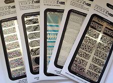 Dashing Diva Design FX Bling Nail Wraps/Appliques for Fingers 16 Designs