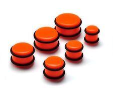un Piercing plug (tunnels ecarteur expander) orange gros diamètre de 10mm à 20mm