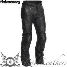 HALVARSSONS LEON pour femmes Noir Cuir Classique Moto pantalon