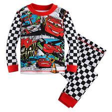 Disney Store Cars Lightning Mcqueen 2PC Long Sleeve Tight Fit Pajama Set Boy 5