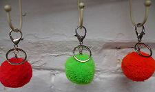 Pompons porte-clés couleurs fluo laine clip métal unique POM POM Home Accessoire Cadeau