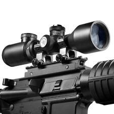 Barska 3-9x42 Contour Compact Riflescope 4A, Mil-Plex IR w/ Rings, AC10634
