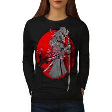 Samurai Blood Spring Women Long Sleeve T-shirt NEW | Wellcoda