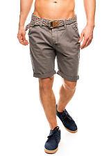 50% OFF B15020588 Herren Eight2Nine Shorts Chino multicolor Gürtel Turn-up grau