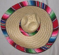Multicolor Medium Size Straw Mexican Sombrero