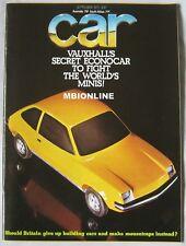 CAR 09/1975 featuring Lotus, MG B GT, Toyota Celica GT, Lancia, Wolseley, BMW