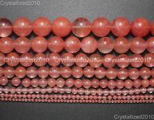Natural Red Cherry Quartz Gemstone Round Beads 2mm 4mm 6mm 8mm 10mm 12mm 15.5''