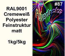 PULVERLACK Beschichtungspulver Pulverbeschichtung Lackpulver RAL9001 cremeweiß