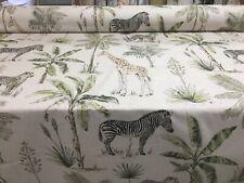 Tropical Safari LINEN  140cm wide Curtain/Upholstery Fabric