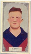 Fitzroy football club Australia Hoadley's violet nut bars trade card of R Niven