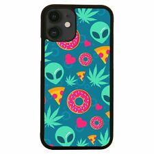Cute alien cannabis pattern design funny iPhone case cover 11 11Pro Max XS XR X