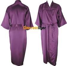 Oversized Purple Full Length Satin Robe Silk Dressing Gown Bridesmaids Gift