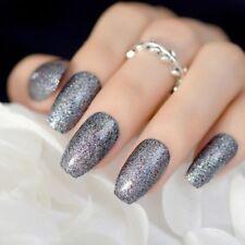 GLITTER SHINNY Stiletto false nails,coffin false nails, hand painted false nails