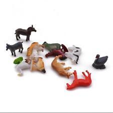 12 Plastic Wild Farm Animals Model Figure Kids Toys Indoor Outdoor Play C