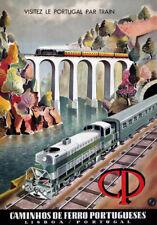 TX112 Vintage Portugal Lisbon Portuguese Railway Travel Poster Re-Print A2/A3