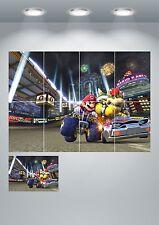 Super mario kart giant wall art poster print-A3/A4 sections ou géant 1 pièce