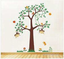 Nursery Wall Stickers Animal Friends Jungle Safari Tree Kids wall Art Decal-P268