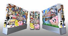 Skin Sticker Cover Nintendo Wii Console & 2 Remotes Super Smash Bros Brawl 221