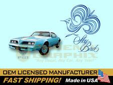 1977 1978 Pontiac Firebird Esprit Sky Blue Bird Decals & Stripes Kit