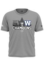 New Era Winnipeg Blue Bombers 2019 107th Grey Cup Champions Locker Room T-Shirt