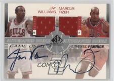 2003-04 SP Game Used #JW/MF-AJ Jay Williams Marcus Fizer Chicago Bulls Auto Card