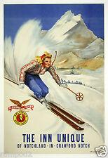VintageTravel Poster - Norway/Skiing