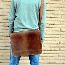 Leather Cyber Monday Vintage Messenger Shoulder Satchel Laptop Briefcase Bag