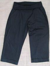 New Maternity Black 3 4 Length Pants Size 10 12 14 Crop Capris Cotton Casual