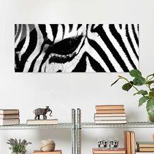 Glasbild Zebra Crossing Panorama Quer Wandbild Echtglas farbecht Motiv Design