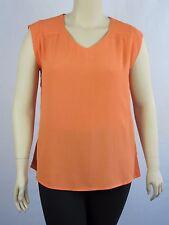 Katies Ladies Sleeveless V Neck Shell Top size 12 Colour Orange
